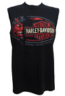 Harley-Davidson Men's Black Half Evil Sinister Sleeveless Muscle Tee - R001104 $24.0 USD