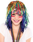Metallic Tinsel Foil Wig for Adults New Year Halloween Party Costume