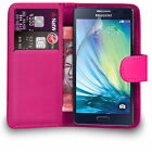 PINK (PU) Leather Folio Wallet Flip Cover Case for SAMAUNG GALAXY J3 2017