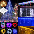Us 110v 10ft-32ft Christmas String Indoor/outdoor Icicle Shower Curtain Lights