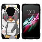 For Alcatel OneTouch Idol 3 (5.5) Dual Layer Hybrid Shell Kickstand Fitted Case