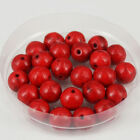 """4mm/6mm/8mm/12mm Red Turquoise Stone Round Loose Beads DIY Jewelry Makings 15"""""""