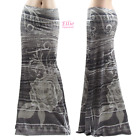 Women's LONG SKIRT Denim Print Lace Floral Rose Maxi S/M/L/XL/1XL/2XL/3XL
