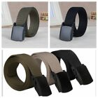 Casual High Quality Polymer Buckle Nylon Belt  6 Color Smooth Buckle Canvas Belt