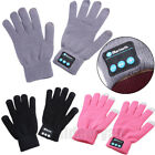 Pair Of Bluetooth Handsfree Knitted Thermal Warm Gloves Touch Screen Mittens