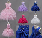 Sleeveless Lace Girls Clothes Party Princess 4-15 Year Birthday Children Dresses