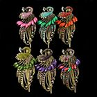 Chic Women Vintage Crystal Rhinestone Peacock Hair Barrette Clip Hairpin Fashion