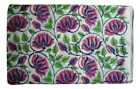 Cotton Voile Fabric Natural Crafting Hand Block Print fabric By the yard V-96
