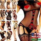 Sexy-Lingerie-Sleepwear-Women-Lace-Nightwear-Bodystocking Socks Stocking Hosiery
