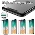 For iPhone X 3D Curved Full Cover Toughened Tempered Glass Screen Protectors