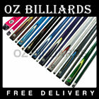 """57"""" FULL LENGTH 2-PIECE POOL SNOOKER BILLIARD GRAPHITE CUE FREE DELIVERY $58.99 AUD on eBay"""