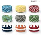 Inflatable Stool Round Ottoman Portable Travel Bean Bag for Camping Patio Home