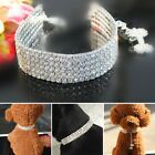 1 PC Rhinestone Dog Collar Bling Crystal Girl Small Pets Cat puppy Necklace S-L