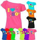 Womens I Love The 80's T-Shirt Outfit Casual Wear Hen Party 6016455 Top® Lot