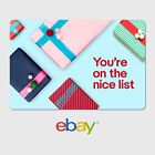 eBay Holiday Digital Gift Card - Nice - $25 to $200 - Email Delivery <br/> US Only. May take 4 hours for verification to deliver.