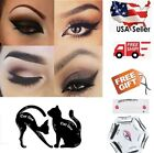 Eyeliner Stencils +Free Eyebrow Guide Card Makeup Tool Set C