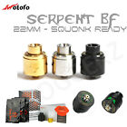 AUTHENTIC SERPENT BF 22mm   RDA Squonker   Black Gol or SS   Squonk-Ready Pin  