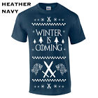360 Winter is Coming Mens T-Shirt new stark funny thrones ugly christmas sweater
