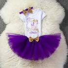 Outfits Sets - Kids Baby Girl 1st First Birthday Dress One Year Clothing Set Tutu Cake Outfits