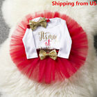 birthday apparel - Kids Baby Girl 1st First Birthday Dress One Year Clothing Set Tutu Cake Outfits