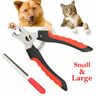 Stainless Steel Nail Clipper Cutter Scissor For Pets Dog cat Grooming Trimmer US