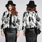 Winter Womens Faux Fur Round Collar Coat  Matching Color Formal Coats Overwear