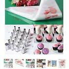 100Pcs Disposable Piping Bag&Icing Nozzle Fondant Cake Decorating Pastry Tip RQ