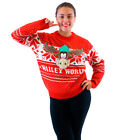 Adult Christmas Vacation Marty Moose Walley World Red Ugly Christmas Sweater