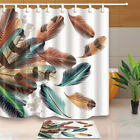 beautiful traditional bathrooms - Beautiful Colored Feathers Decor Bathroom Fabric Shower Curtain With 71X71 Inch