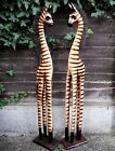 Colourful Carved Wooden ZEBRAS XLarge 150 cm Large 120 cm  with Mane Home Decor