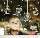 New Ornaments Cristmas Decorations 121pcs Window Clings Wall Stickers Xmas Decal