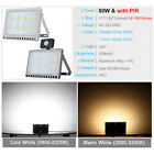 LED Floodlight 10/20/30/50/100W PIR Motion Security Flood Light Warm Cool IP67
