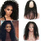 "10""-20"" Deep Wave 360 Lace Band Frontal Closure 100% Brazilian Remy Human Hair"