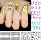 Floral Tiger Pattern Women Nail Art Stickers DIY Tool Manicure Decor Natural