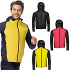 Mens Sports Running Soft Shell Jacket - Lightweight Breathable Water Repellent