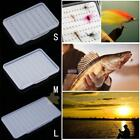 Easy-Grip Foam & Compartment Clear Slim Lure Bait Fly Hook Box Case Container