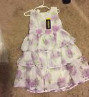 Saint Tortress White Purple Flowers Formal Pageant Dress Size 3T