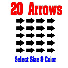 20 Each Directional Arrows - Vinyl Decals - Made from Outdoor Vinyl Very Durable