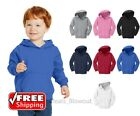 Toddler Pullover Fleece Hooded Sweatshirt Youth Sweater Blank Warm Hoody CAR78TH