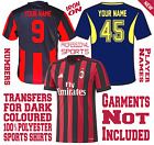 Iron On Sports Football Soccer Numbers Letters For 100% Polyester Dark Jerseys