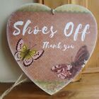 HANDMADE plaque - shoes off, butterflies, butterfly, gift, home - OPTIONS