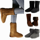 Winter Boots Women's Faux Fur Suede Mid Calf Warm Snow Fashion Plush 3 Colors