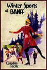 BANFF 1928 Winter Sports Canadian Pacific Vintage Poster Print Winter Skiing