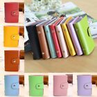 Multicolor 24 Cards PU Leather Pocket Business ID Credit Card Holder Case Purse