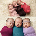 IK- Newborn Baby Photography Photo Props Stretch Knit Swaddle Wrap Blanket Fashi