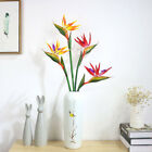 IK- 1x Artificial Flower Bird Of Paradise Fake Plant Silk Strelitzia Reginae Eye