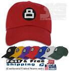 8 Ball Hat Dad Embroidered Cap Polo Style Baseball Cotton Curved Bill NEW $14.39 USD