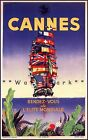 Cannes France Rendezvous Of The Elite Vintage Poster Print Retro French Travel