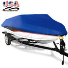 Blue 14-22ft Heavy Duty Trailerable Waterproof Boat Cover Fishing Ski Bass Beam image