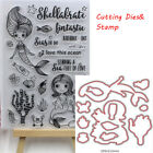 Photo Album Embossing Cutting Dies Clear Stamp Stencils Scrapbooking Mermaid DIY